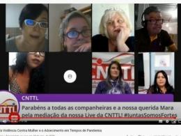 Sindicalistas debatem aumento da violência doméstica e adoecimento da saúde mental