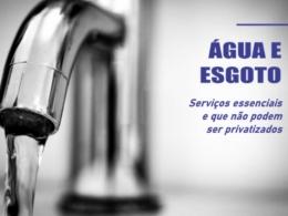 Entidades exigem que serviço de água e esgoto sejam incluídos na lista de essenciais