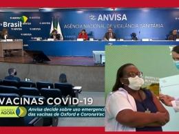Os cinco diretores da Anvisa seguiram voto da gerência técnica e da relatora, que acataram pedidos do Butantan e da Fiocruz. Mulher, negra e enfermeira é a primeira a receber dose da CoronaVac contra covid-19, em São Paulo