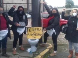 Após mobilização, trabalhadoras de fábrica de calçados garantem livre acesso ao banheiro
